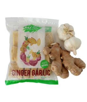 Crushed garlic and ginger