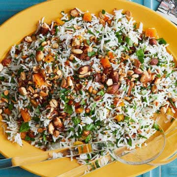 Basmati Rice With Parsley, Almonds And Apricots