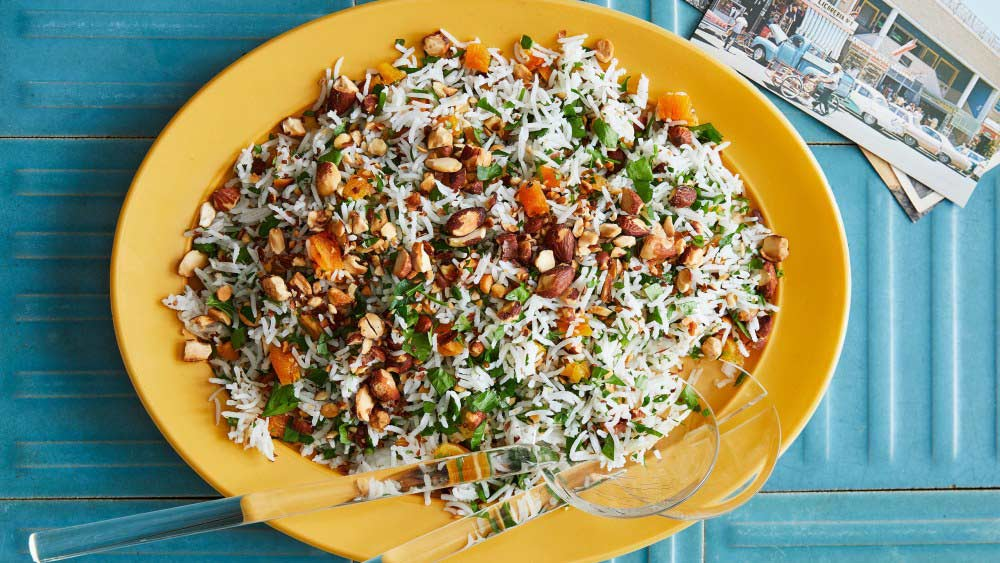 Rice With Parsley Almonds And Apricots