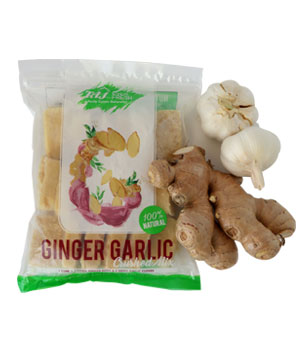 Crushed garlic and ginger