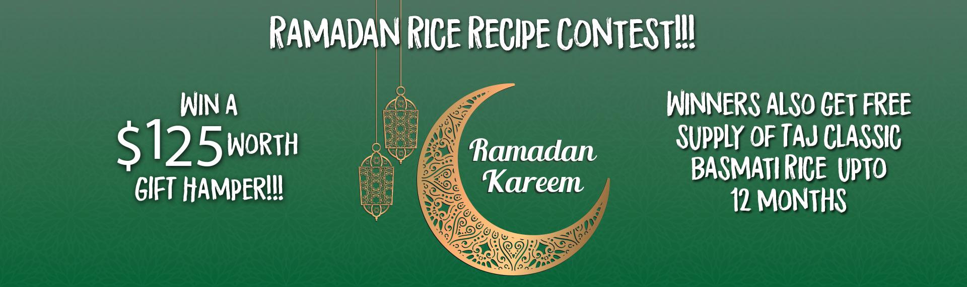 Ramadan Rice Contest Banner