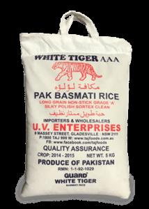 White Tiger Pak Basmati Rice